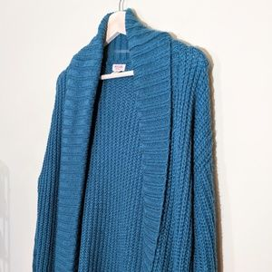 Mossimo Supply Co. Sweaters - MOSSIMO Chunky Cocoon Cardigan Teal Blue Medium